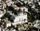 Israel Nazareth aerial view of the Church of the Annunciation from the south