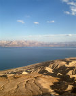 Israel, looking east from the Judean foothills  to the Hills of Moab across the Dead Sea
