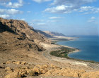 Israel, the Judean Foothills and the Dead Sea looking north