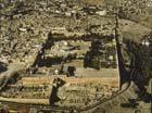 Temple area, aerial view showing surrounding city, Jerusalem, Israel