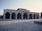 Israel, Jerusalem the front facade of Al Aqsa mosque