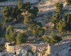 Israel, Jerusalem, the Hinnom Valley just after sunrise
