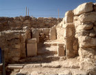 Israel, Tel Arad in the Negev, Holy of holies and Israelite temple dating from seventh century BC