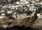 Israel, Jerusalem, excavations of the city of David south east of the city wall from the Mount of Olives
