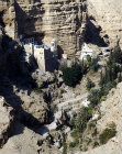 Israel, Greek Orthodox Monastery of St George, Wadi Qilt, founded in the fourth century, present building dating from nineteenth century, aerial view