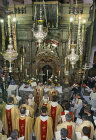 Israel, Jerusalem, Easter Sunday, Holy Communion at the Roman Catholic Mass in the Holy Sepulchre Church
