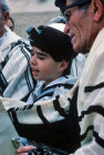Israel Jerusalem Sephardic Jewish boy reading the Toray at his Bar Mitzvah ceremony
