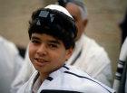 Israel Jerusalem Israeli Jewish boy at a Bar Mitzvah ceremony