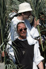 Israel, Jerusalem, procession on Palm Sunday