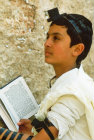 Israel Jerusalem Sephardic Jewish boy at Bar mitzvah ceremony at the Western Wall