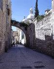 Israel, Jerusalem, the Via Dolorosa and Ecce Homo arch beyond