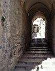 Israel, Jerusalem, stepped street leading down to the Via Dolorosa
