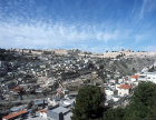 Israel, Jerusalem, view over Silwan village to old city walls and city of David below