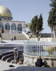 Israel, Jerusalem, the Ablutions Fountain and the Dome of the Rock
