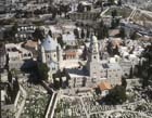 Church of the Dormition of Mary, aerial view from west, Mount Zion, Jerusalem, Israel