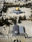 Jerusalem, aerial view from the south of the Dome of the Rock and El Aksa Mosque