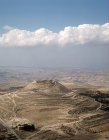 Israel, Herodium, aerial longshot looking south east towards the Dead Sea