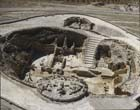 Herodium, Herodion (Har Hordos), aerial close-up from north, Israel