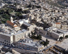 Israel, Bethlehem, aerial view with the Church of the Nativity in the foreground