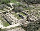 Israel Sebaste, , aerial view of excavations of temple of Augustus circa 30 BC