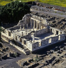Synagogue, third or fourth century, aerial view, Capernaum, Israel