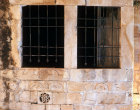Israel, Jerusalem, Mount Zion, detail of the window of the Room of the Last Supper