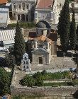 Greek Orthodox Church, built 1566, aerial view, Cana, Galilee, Israel