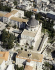 Israel, Nazareth, aerial view of Church of the Annunciation