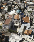Catholic Franciscan Church built on site of miracle at wedding at Cana, aerial view, Cana, Galilee, Israel