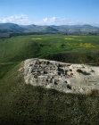 Israel, Tel Hazor,  aerial shot of 9th - 8th century BC Israelite citadel