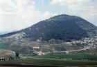 Israel, Mount Tabor, aerial view from the east