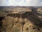Israel, aerial view of Masada from the east