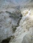 Israel, aerial view of Davids Spring at Ein Gedi