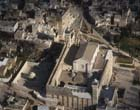 Tomb of the Patriarchs, burial place of Abraham, Sarah, Isaac and Jacob, Hebron, aerial view of Haram al-Khalil, Israel