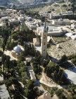 Israel, Jerusalem aerial view of the Tower and Church of the Ascension on the Mount of Olives