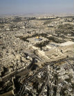 Israel, Jerusalem, aerial view from the south west of the Temple Area and the Western Wall