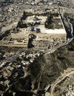 Israel, Jerusalem, aerial view from the south, of the Temple Area and the City of David