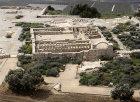Restored fifth century farm unit, aerial view, Ramat Hanadiv, Israel