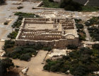 Israel, Ramat Hanadiv, aerial view of restored farm unit