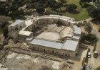 Roman theatre, second to third century AD, aerial view, Ramat Hanadiv, Israel