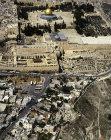 City of David, below, Dome of Rock and El Aksa mosque, aerial view, Jerusalem, Israel