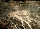 Israel, aerial view of Susya, site of ancient Jewish village in the Hebron Hills, north east of Tel Arad in the Negev