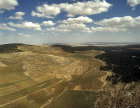 Israel, aerial view of valley between Susya and Tel Arad