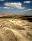 Israel, Tel Arad, in the Negev, aerial view from west of eighth to seventh century BC Israelite citadel