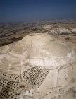 Israel, Herodium, aerial long shot looking west