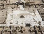 Hishams Palace, circa 8th century, near Jericho, Israel, aerial view