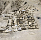 Israel, Qumran, aerial view of Essene Settlement, second century BCE to first century CE, looking west