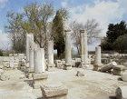 Israel, Baram, interior of 4th century CE synagogue