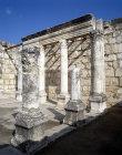 Prayer hall of third or fourth century synagogue, Capernaum, Israel