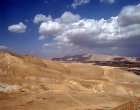 Israel, the Judean foothills north of Jericho looking north east over the Jordan Valley